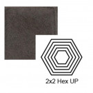 """2"""" x 2 1/4"""" Hexagon up Steppe in Iron Ore"""