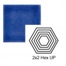 "2"" x 2 1/4"" Hexagon up Steppe in Very Royal"