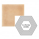 """4"""" x 4 5/8"""" Hexagon down Steppe in Pebbled Courtyard"""