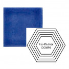"""4"""" x 4 5/8"""" Hexagon down Steppe in Very Royal"""