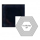 """4"""" x 4 5/8"""" Hexagon up Steppe in Three A.M."""