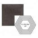 """4"""" x 4 5/8"""" Hexagon up Steppe in Iron Ore"""