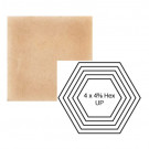 """4"""" x 4 5/8"""" Hexagon up Steppe in Pebbled Courtyard"""