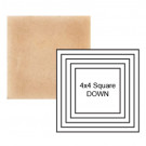 """4"""" Square down Steppe in Pebbled Courtyard"""