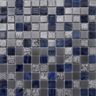 """Erin Adams Glass Mosaic, 1"""" x 1"""" in Hematite"""