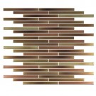 "Erin Adams Glass Mosaic, 7/16"" x 6"" in Jaspilite copper, pencil mosaic"