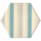 Hexagon-Stripe Caribbean Breeze
