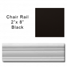 Chair Rail tile in True Black