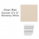 Chair Rail Corner tile in Monterey White