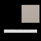 Flat Liner tile in Pebble