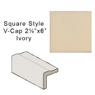 California Revival Square style V-Cap in Ivory