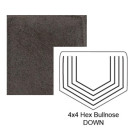 Hexagon Down Steppe Bullnose in Iron Ore