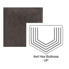 Hexagon Up Steppe Bullnose in Iron Ore