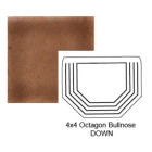 Octagon Down Steppe Bullnose in Chocolate Milk