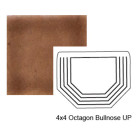 Octagon Up Steppe Bullnose in Chocolate Milk
