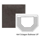 Octagon Up Steppe Bullnose in Iron Ore