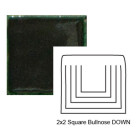 Small Square Down Steppe Bullnose in Copper Ore