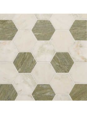 CA Stone and Mosaic Grande Hexagon Set Pattern