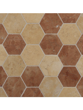 CA Stone and Mosaic Grande Hexagon Random