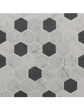 CA Stone and Mosaic Large Hexagon Random