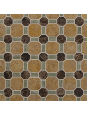 CA Stone and Mosaic Octagon and Bars
