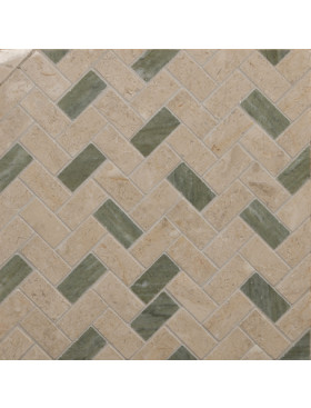 CA Stone and Mosaic Small Random Herringbone
