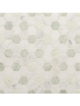 CA Stone and Mosaic Small Hexagon Random