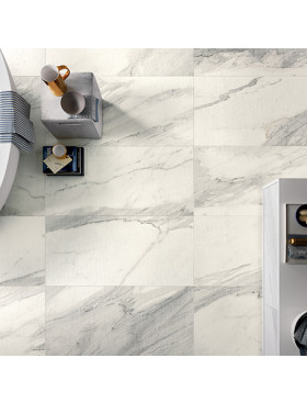 White Experience Apuano Spazzolato Large Format Rectangular Tile
