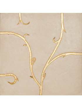 Flamboyant Limestone, beige with gold leaf