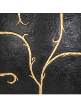 Flamboyant Marble, black with gold leaf