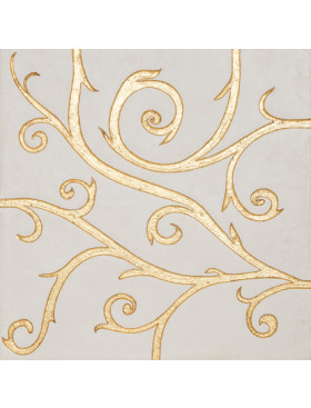 Flamboyant Marble, white with gold leaf