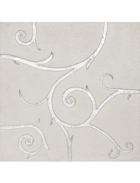 Flamboyant Marble, white with silver leaf