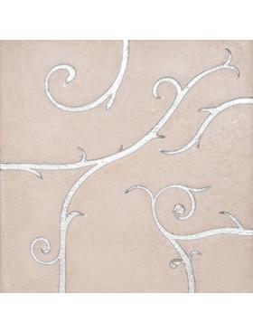 Flamboyant Limestone, beige, silver leaf and Swarovski crystals