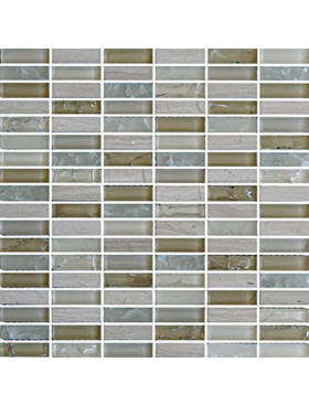 "Bliss Autumn 5/8"" x 2"" straight brick mosaic"