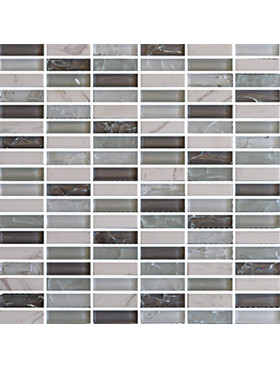 "Bliss Spring 5/8"" x 2"" straight brick mosaic"