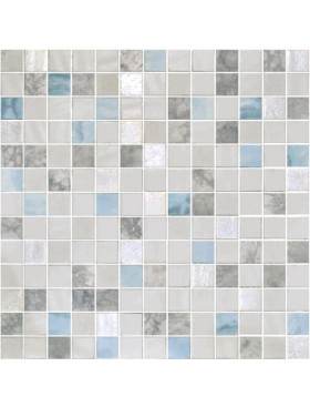 "Onix Essence Carrara Blend 1"" x 1"" mosaic glass and porcelain in Macauba"