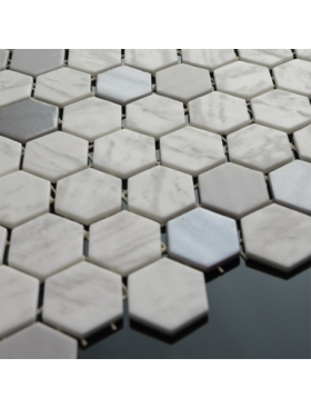 Onix Hexagon Blend Metal Carrara