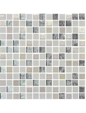 "Onix Mystic 1"" x 1"" mosaic glass and porcelain in Arola, on 12"" x 12"" sheet"