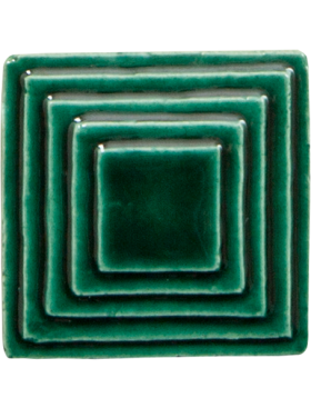 Square (small) up Steppe in Emerald
