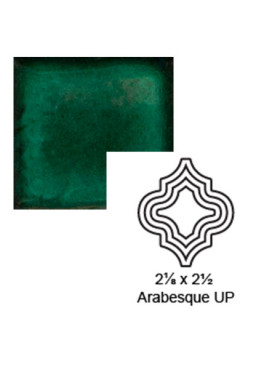 Arabesque (small) up Steppe in Emerald
