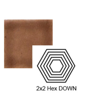 Hexagon (small) down Steppe in Chocolate Milk