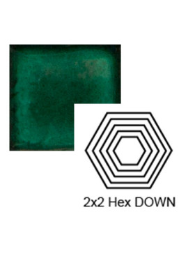 Hexagon (small) down Steppe in Emerald