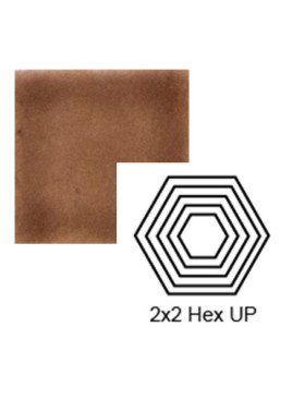 Hexagon (small) up Steppe in Chocolate Milk
