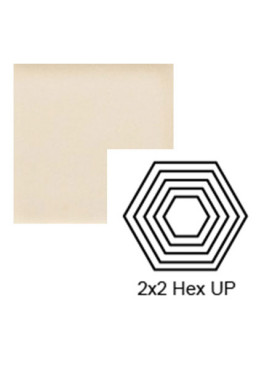 Hexagon (small) up Steppe in Cream