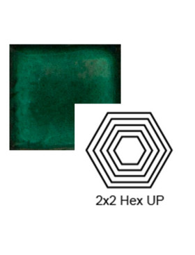 Hexagon (small) up Steppe in Emerald