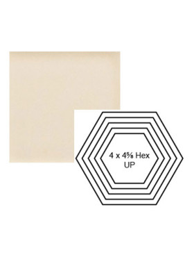 Hexagon up Steppe in Cream
