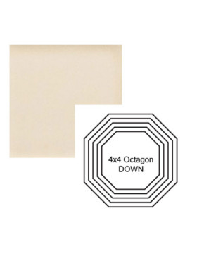 Octagon down Steppe in Cream