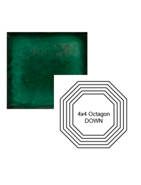Octagon down Steppe in Emerald