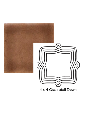 Quatrefoil down Steppe in Chocolate Milk