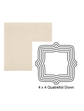 Quatrefoil down Steppe in Cloud Cover
